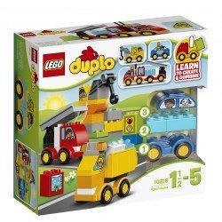 Lego® DUPLO® Mano pirmieji automobiliai ir sunkvežimiai