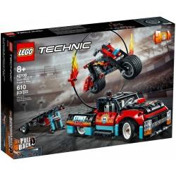 Lego® Technic Kaskadininkų pasirodymo sunkvežimis ir motociklas