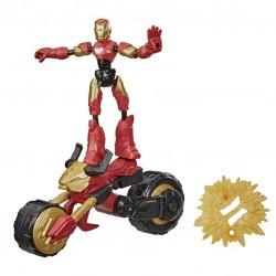 Avengers figūrėlė su motociklu Bend and Flex F02445L0