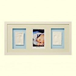 Baby MEMORY PRINT rėmelis ir antspaudas trio baltas BMP.050