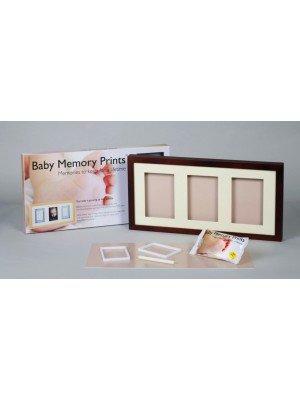 Baby MEMORY PRINT rėmelis ir antspaudas trio rudas BMP.051