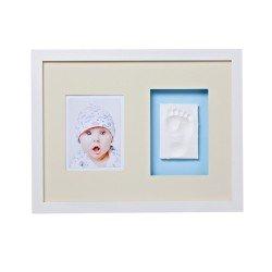 Baby MEMORY PRINT rėmelis sieninis ir antspaudas baltas BMP.010