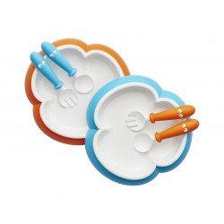 Babybjörn lėkštės šaukšteliai ir šakutės 2vnt  OrangeTurquoise