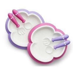 Babybjörn lėkštės šaukšteliai ir šakutės 2vnt  PinkPurple