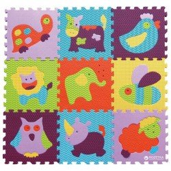 Babygreat kilimėlis-dėlionė Gyvūnai 92x92 cm