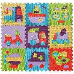 Babygreat kilimėlis-dėlionė Transportas 92x92 cm