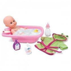 Lėlė-kūdikis 33cm su vonios rinkiniu