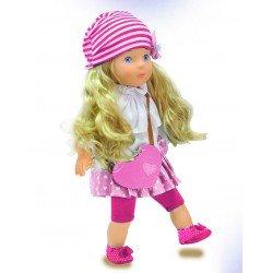 Lėlė Miss Anna su rožine suknele mokanti žodžių estų kalba BD1363PINK-EE