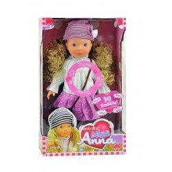 Lėlė Miss Anna su rožine suknele mokanti žodžių lietuvių kalba BD1363PINK-LT