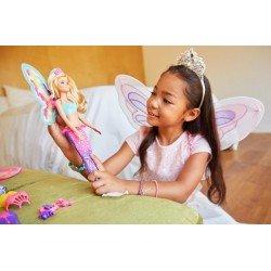 Barbie Barbė princesė-fėja-undinėlė viename FJD08