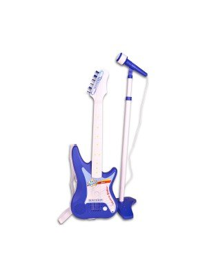 Elektroninė gitara su mikrofonu