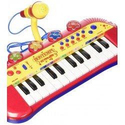 Pianinas elektroninis klavišų su mikrofonu