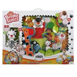 Bright STARTS žaidimų kilimėlis Start Your Senses Spots & Stripes Safari Gym 9167-3
