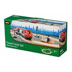 Brio rinkinys su traukinio bėgiais Travel circle