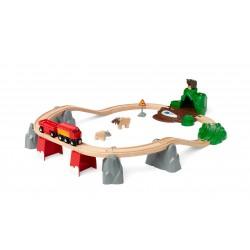 Brio traukinio bėgių rinkinys Miško Gyvūnai