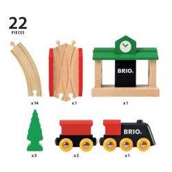 Brio traukinių rinkinys medinis dalys