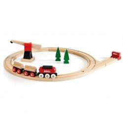 Brio traukinys krovininis medinis