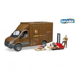 Krovininis automobilis UPS su aksesuarais ir figūrėle