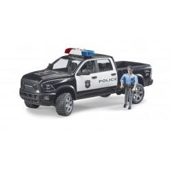 Policijos automobilis RAM su policijos pareigūnu