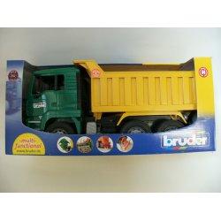 Sunkvežimis žalias su geltona priekaba