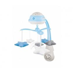 Babies 3in1 muzikinė karuselė su projektoriumi ir pliušinias žaislais mėlyna blu