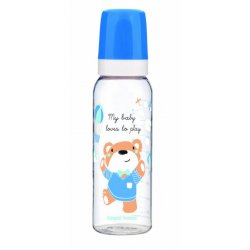 Babies buteliukas dekoruotas 250ml blue