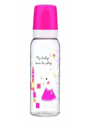 Babies buteliukas dekoruotas 250ml pink