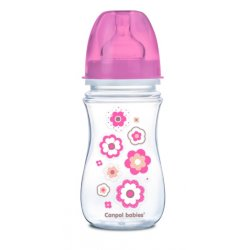 Babies buteliukas plataus kaklelio Easy Start Newborn Anti-colic 240ml pink flowers