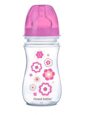 Babies buteliukas plataus kaklelio Easy Start Newborn Anti-colic 240ml pink flowers