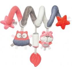 Babies interaktyvus lovelės vežimėlio žaislas spiralė Pastel Friends cor