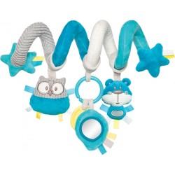 Babies interaktyvus lovelės vežimėlio žaislas spiralė Pastel Friends tur