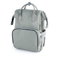 Babies mamos krepšys tvirtinimas prie vežimėlio pilkas