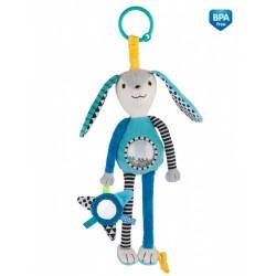 Babies minkštas pakabinamas žaislas Rattle and Mirror Long Ears