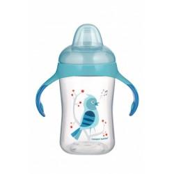 Babies mokomasis puodelis su silikoniniu snapeliu Birds 300ml