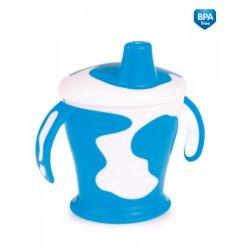 Babies neišipilantis puodelis su rankenom Cow 9m+ 250ml blue