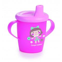 Babies neišsipilantis puodelis 250ml rožinis pin