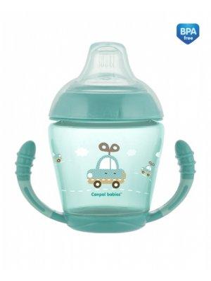 Babies neišsipilantis puodelis su mikštu silikoniniu snapeliu Toys 230ml turkio tur