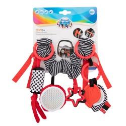Babies pakabinamas žaislas vežimėliuikėdutei Sensory Toys red