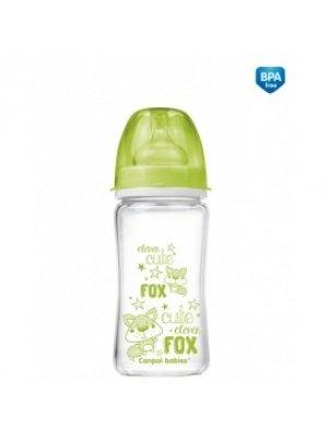 Buteliukas Anti-Colic EasyStart glass 240ml Forest Friends green