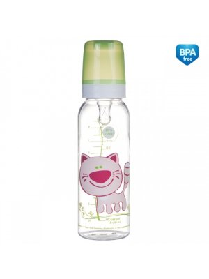 Buteliukas Cheerful animals 250ml 12m+