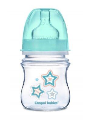 Buteliukas plataus kaklelio Easy Start Newborn Anti-colic 120ml blue stars