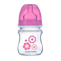 Buteliukas plataus kaklelio Easy Start Newborn Anti-colic 120ml pink flowers