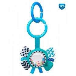 Minkštas žaislas su barškučiu Zig Zag Blue Ribbon blu