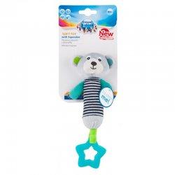 Minkštas žaislas su kramtuku Bears Grey grey