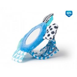 Minkštas žaislas su veidrodėliu ant riešo Zig Zag Blue blu