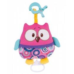 Pakabinamas muzikinis žaislas Forest Friends pink owl