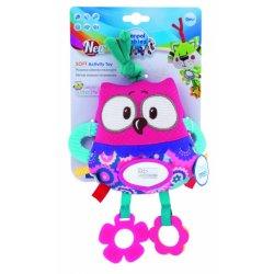 Pakabinamas žaislas Pelėda pink owl