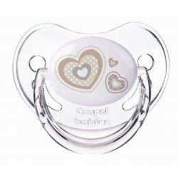 Silikoninis ortodontinis čiulptukas 1vnt Newborn 0-6m beige hearts