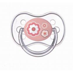 Silikoninis ortodontinis čiulptukas 1vnt Newborn 0-6m pink flowers
