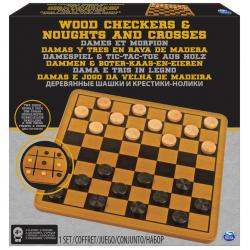 Cardinal GAMES žaidimų rinkinys Medinės šaškės ir TTT
